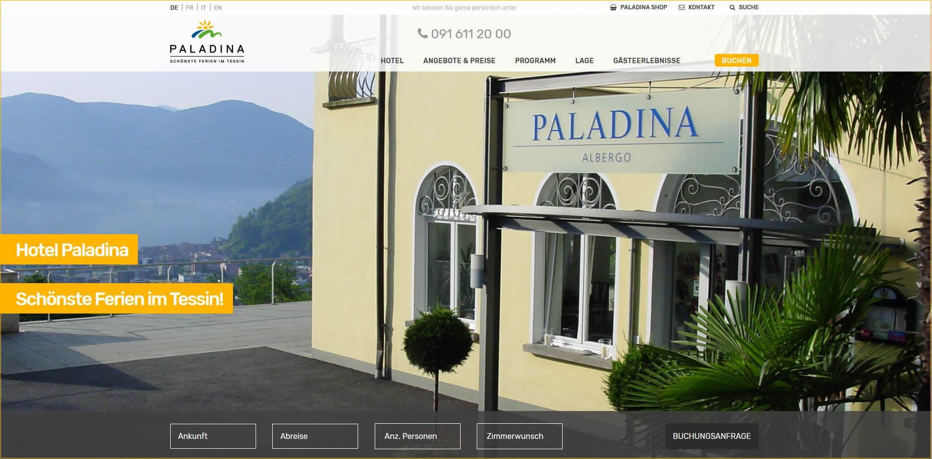 Hotel Paladina - Familien-, Gruppen- oder Einzelgast-Hotel