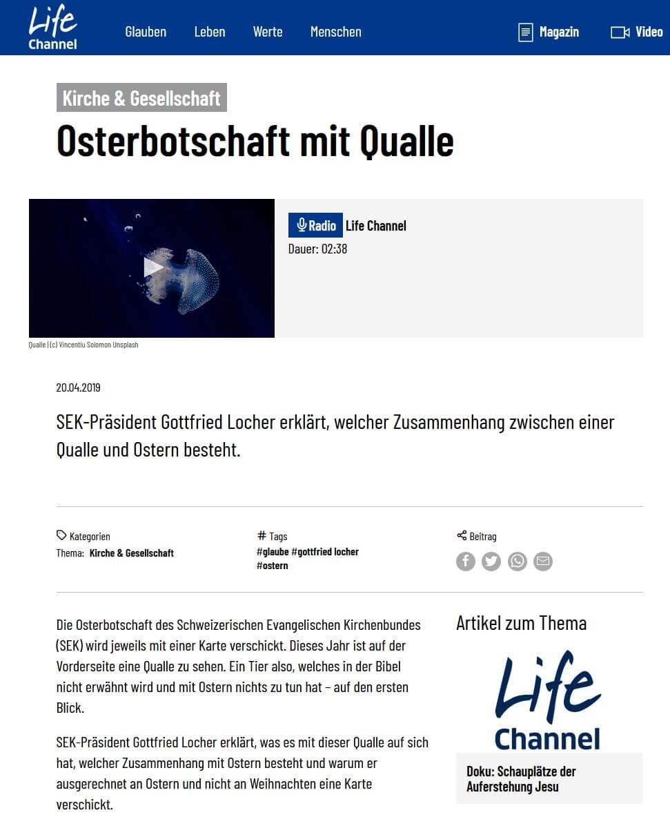 Radiobeitrag zum Thema Ostern - Radio Life Channel