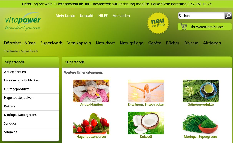 Onlineshop für Bio Kokosöl, Hagenbuttenpulver, Sanddorn, Antioxidantien etc.